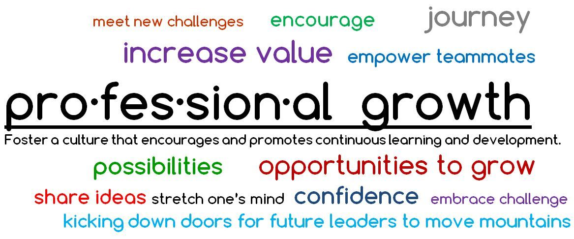 Professional Growth definition is foster a culture that encourages and promotes continuous learning