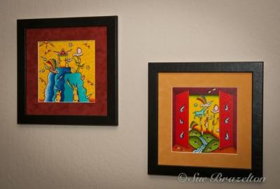 Two Brightly Colored Mexican Paintings