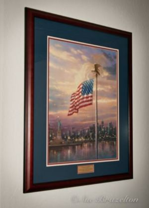 Light of Freedom by Thomas Kinkade Framed Painting American Flag
